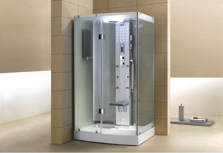 Cabine de douche hydromassante avec hammam AS-001A
