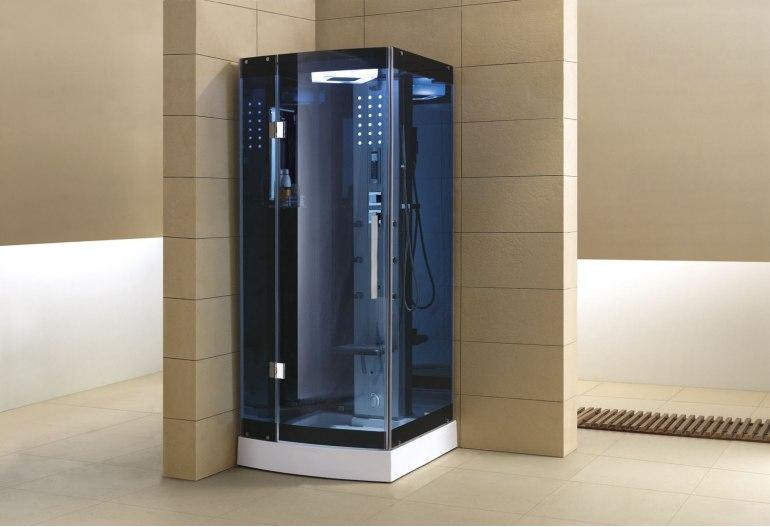 Cabine de douche hydromassante avec hammam AS-002B-1