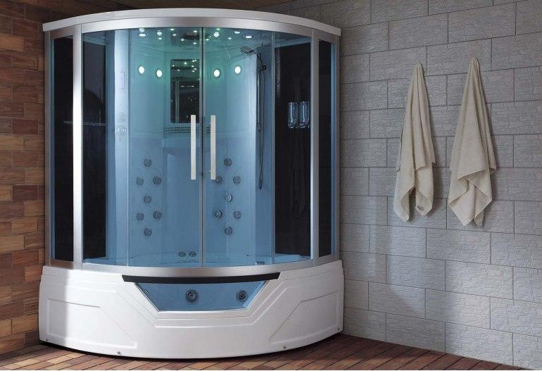 Bien-aimée Cabine de douche hydromassante avec hammam et baignoire AT-012A &BW_41