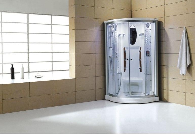Cabine de douche hydromassante avec hammam AS-011