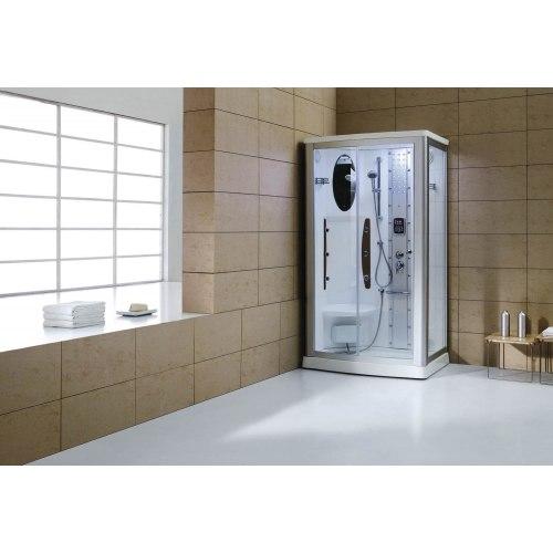 Cabine de douche hydromassante avec hammam AS-013