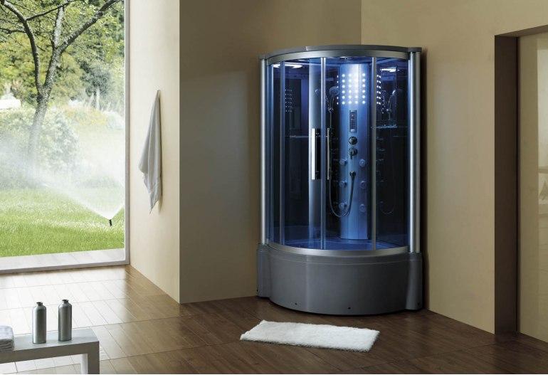 Cabine de douche hydromassante avec hammam et baignoire AT-013