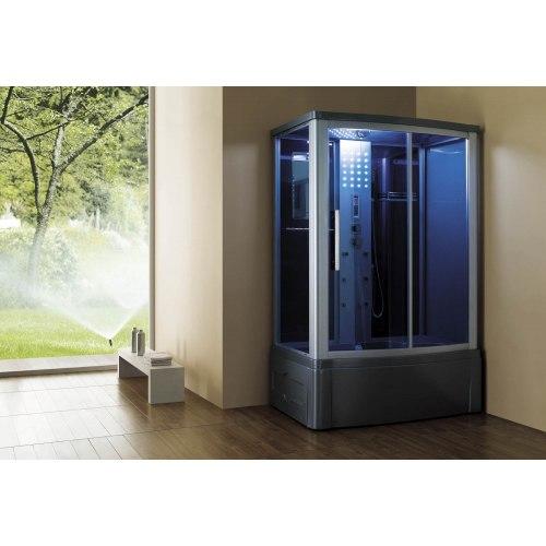 Cabine de douche hydromassante avec hammam et baignoire AT-015
