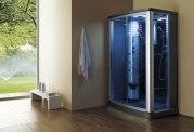 Cabine de douche hydromassante avec hammam AS-016