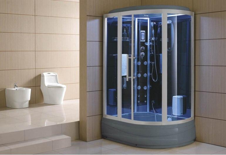 époustouflant Cabine de douche hydromassante avec hammam et baignoire AT-006 @XR_64