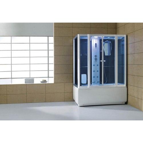 Cabine de douche hydromassante avec hammam et baignoire AT-008A