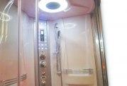 Cabine de douche hydromassante avec hammam et baignoire AT-001-1