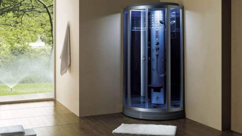 Hybrides : Cabine de douche hydromassante + Sauna